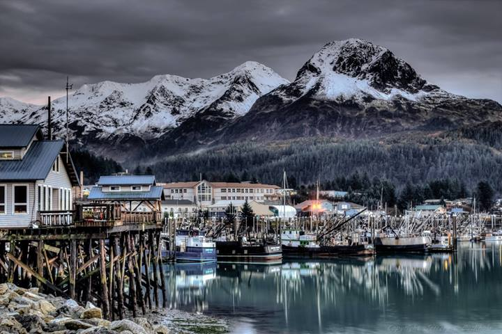 Cordova Alaska city harbor