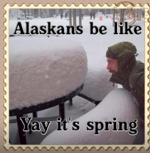 Most Years It Will Snow Into May (Photo Author Unknown)
