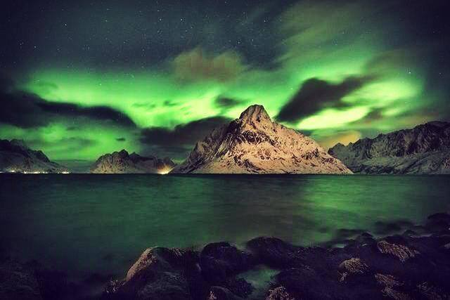Beautiful Aurora Green - Photo Author Unknown