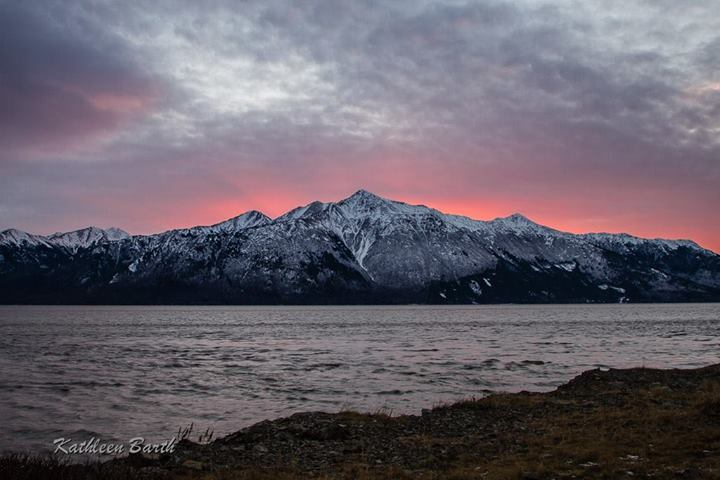 Sunset - Turnagain Arm. Photo by Kathleen Barth Photography