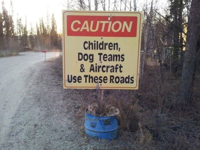 Dog Teams and Aircraft Use These Roads