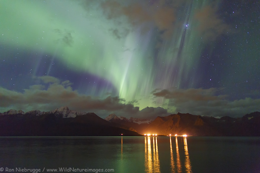 Aurora Over Seward. Photo By Ron Niebrugge
