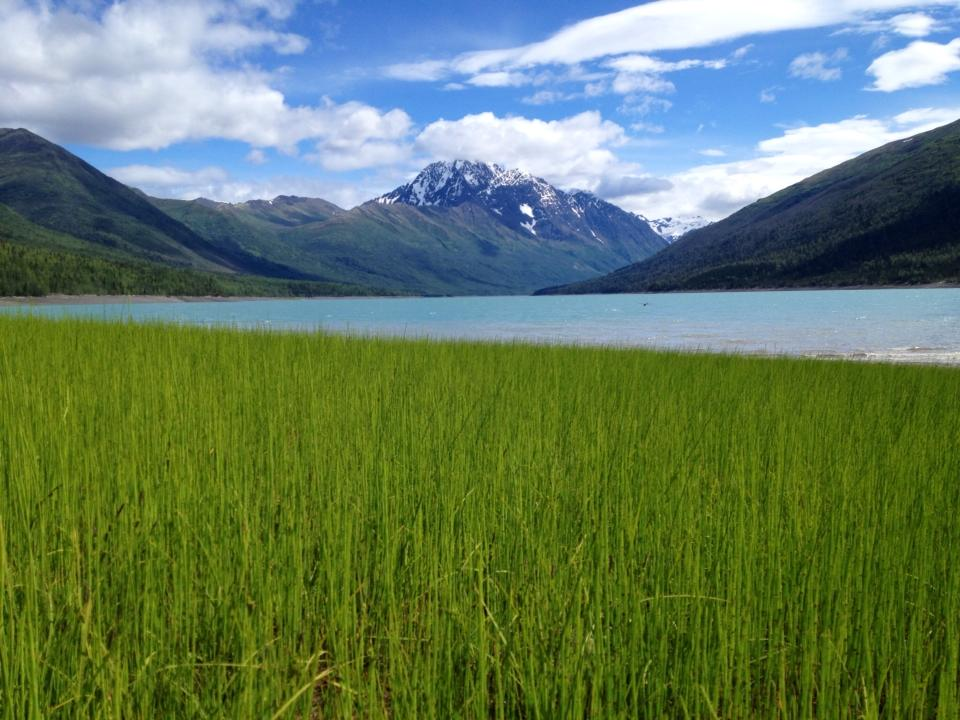 Peaceful Eklutna Lake. Photo by Fred Lawrence