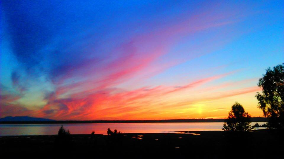 Colorful Sunset In Anchorage, July 3, 2014. Photo By Jennie Lawrence