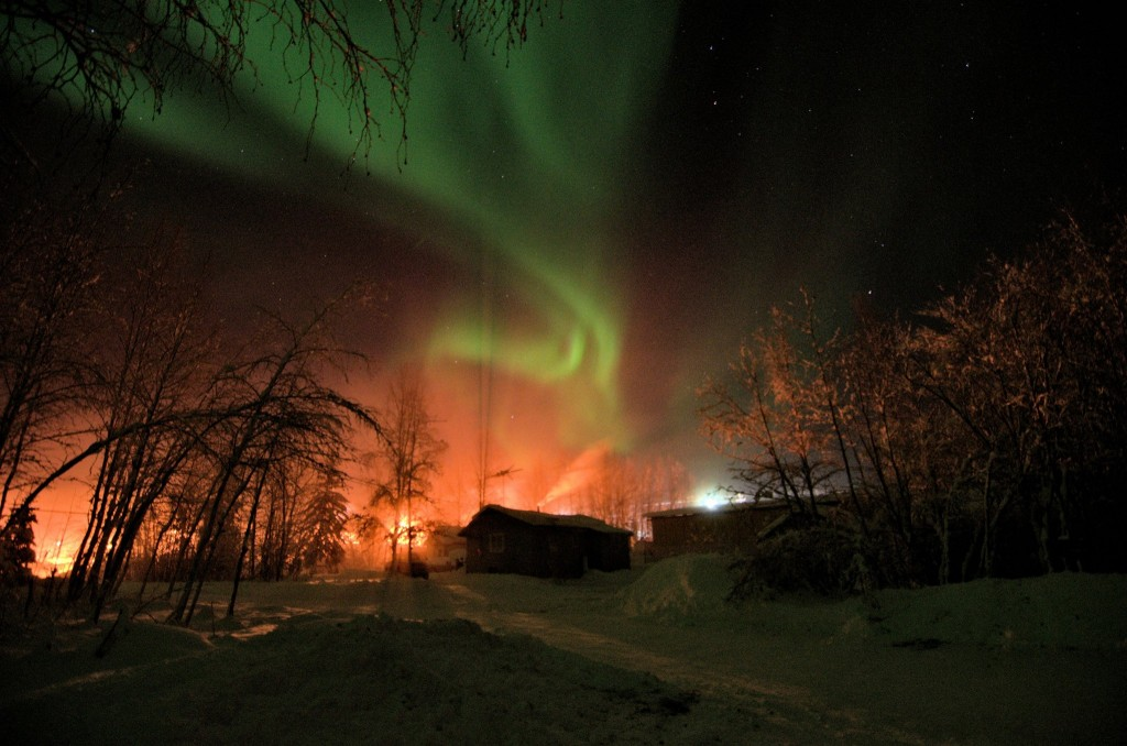 Aurora In Fox Alaska At -48 Below. Photo By Gary Kallberg.