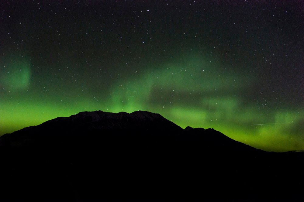 Aurora In Seward. Photo By AK Fine Art.