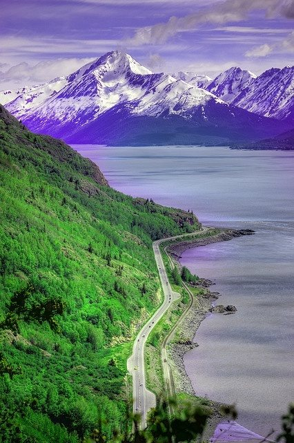 Those Beautiful Drives To Seward & Homer. Photo Author Unknown. 766 Likes