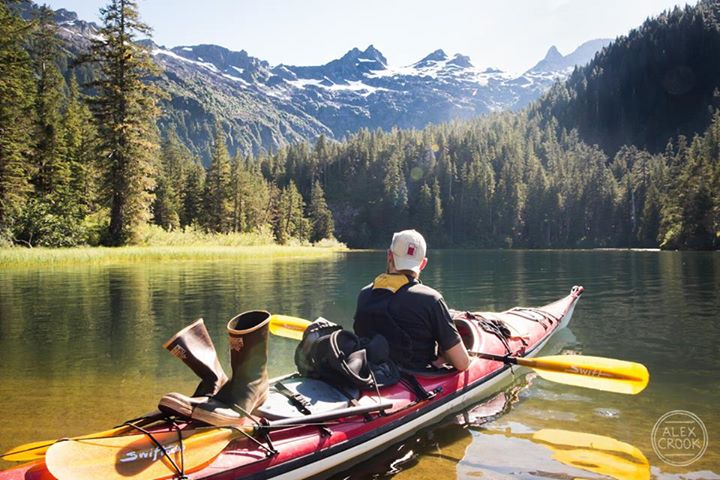 Kayaking In One Of The Many Lakes In Alaska. 824 Likes